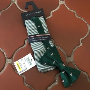 NWT Tommy Hilfiger Bow Tie & Pocket Square Set